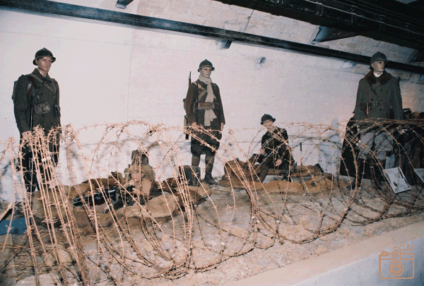 Diorama: Infanterieopstelling